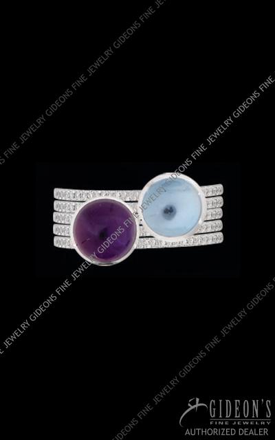 Hidalgo Diamond Insert Ring 1-115