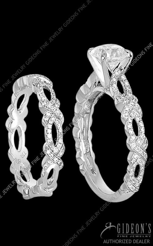 Hidalgo Engagement-Wedding Rings 1-94 and 1-95