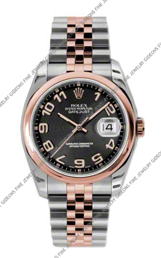 Rolex Oyster Perpetual Datejust 116201 BKCAJ 36mm