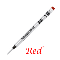 Single Montblanc Red Medium Refill For Rollerball Pens 12958