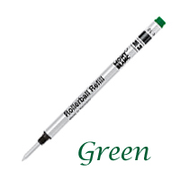 Single Montblanc Green Medium Refill For Rollerball Pens 12959