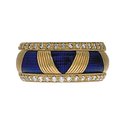 Hidalgo Stackable Rings Art Deco Collection Set (RS7103 & RR1336)