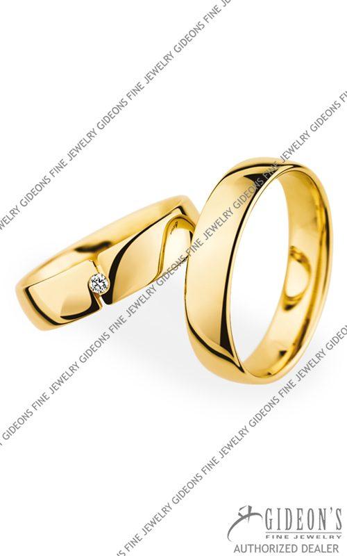 Christian Bauer 18k Yellow Gold Wedding Band Set 20050