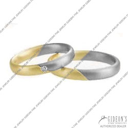 Christian Bauer 14K White and Yellow Bands (240914 & 273300)