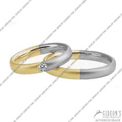 Christian Bauer 14K White and Yellow Bands (240915 & 273301)