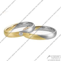 Christian Bauer 14K White and Yellow Bands (240925 & 273316)