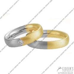 Christian Bauer 14K White and Yellow Bands (241113 & 273437)