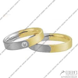Christian Bauer 14K White and Yellow Bands (241117 & 273442)