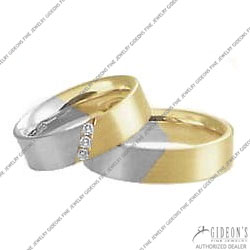 Christian Bauer 14K White and Yellow Bands (243482 & 273497)