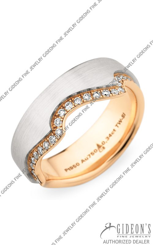 Christian Bauer Platinum and 18k Rose Gold Wedding Band 246805