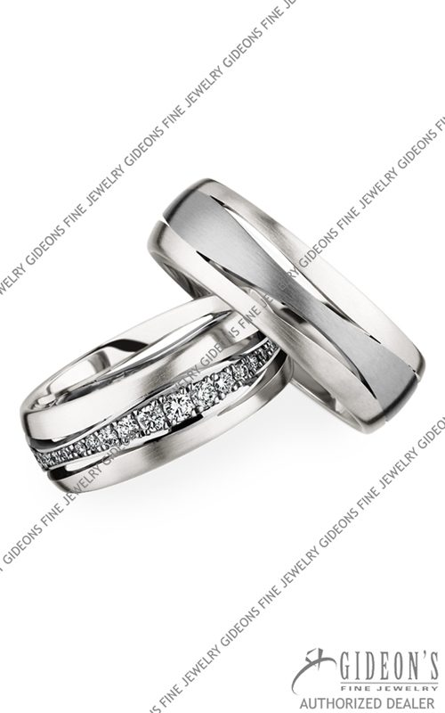 Christian Bauer Platinum and 18k White Gold Wedding Band Set 246845-274214