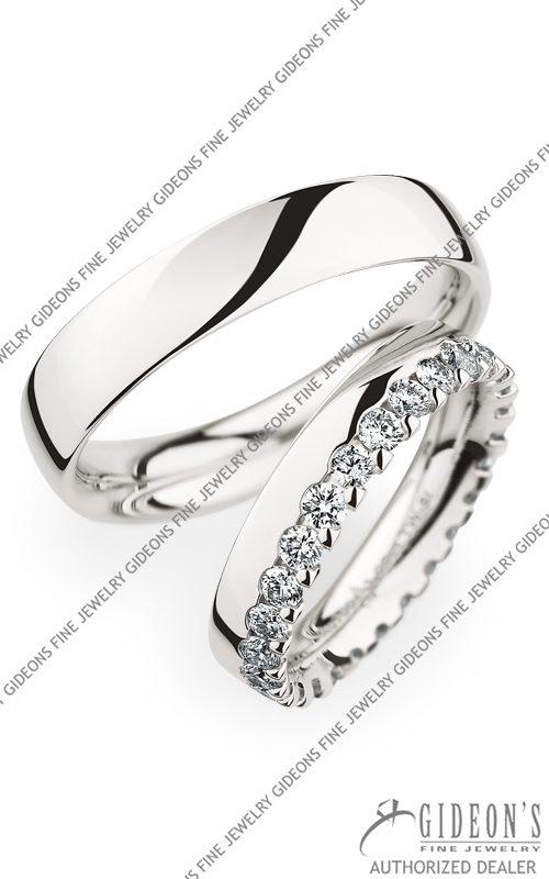 Christian Bauer Platinum Wedding Band Set 270957-246734