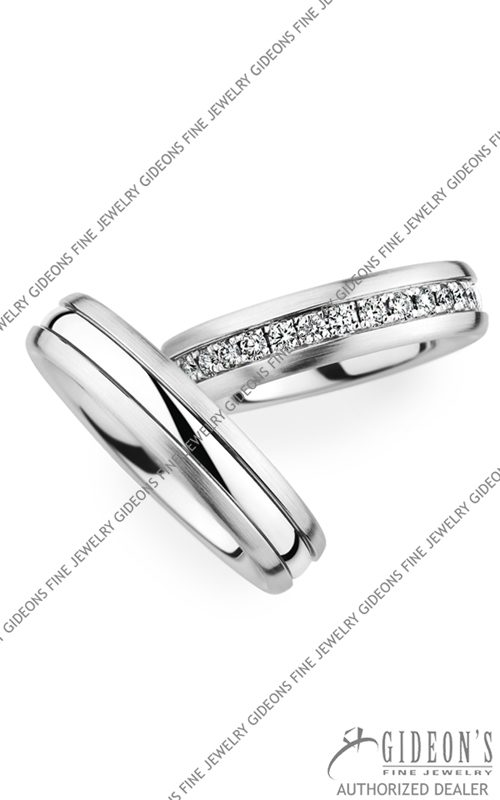 Christian Bauer 18k White Gold Wedding Band Set 273974-246690