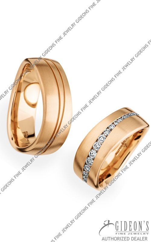Christian Bauer 18k Rose Gold Wedding Band Set 274116-246801