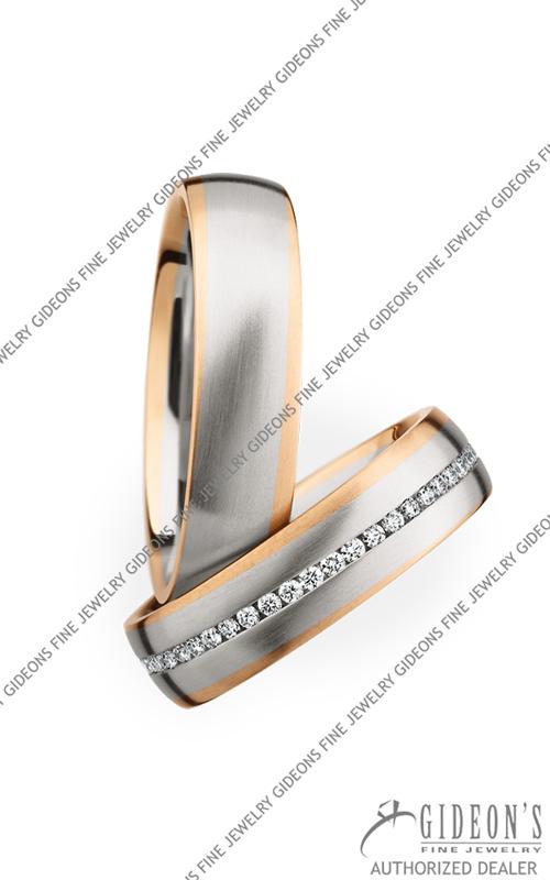Christian Bauer Platinum and 18k Rose Gold Wedding Band Set 274136-246813