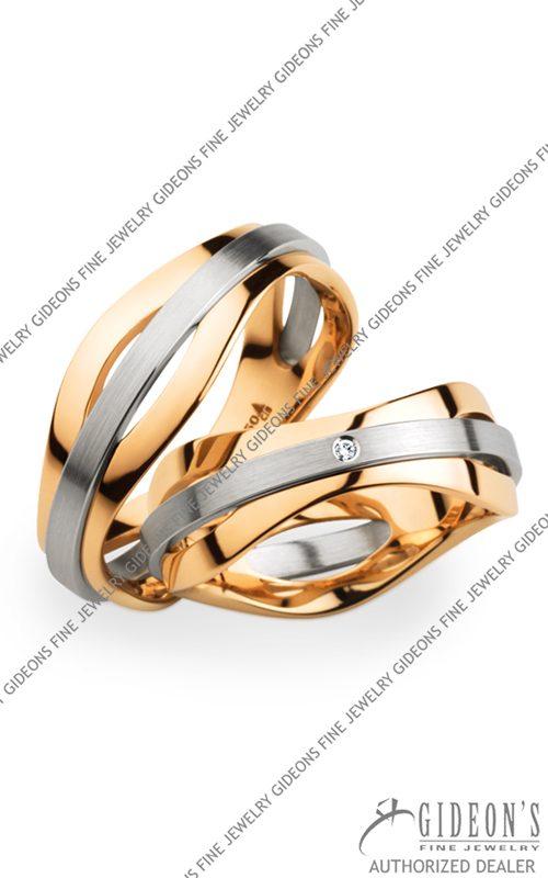 Christian Bauer Platinum and 18k Rose Gold Wedding Band Set 274220-241567