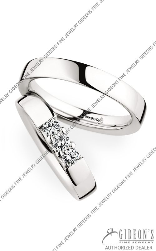 Christian Bauer Platinum Wedding Band Set 280001-243608