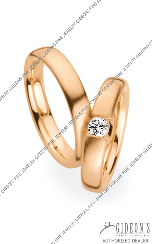 Christian Bauer 14k Rose Gold Wedding Band Set 280006-241550