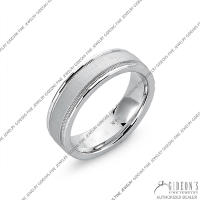 James Kurk White Gold Wedding Band 3144-14