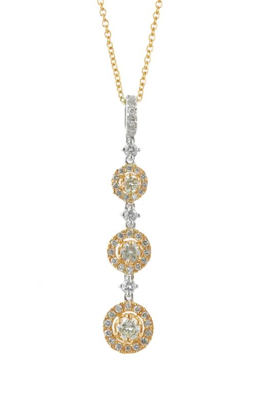 Gideon's Exclusive 18K White & Yellow Gold Contemporary Diamond Pendant