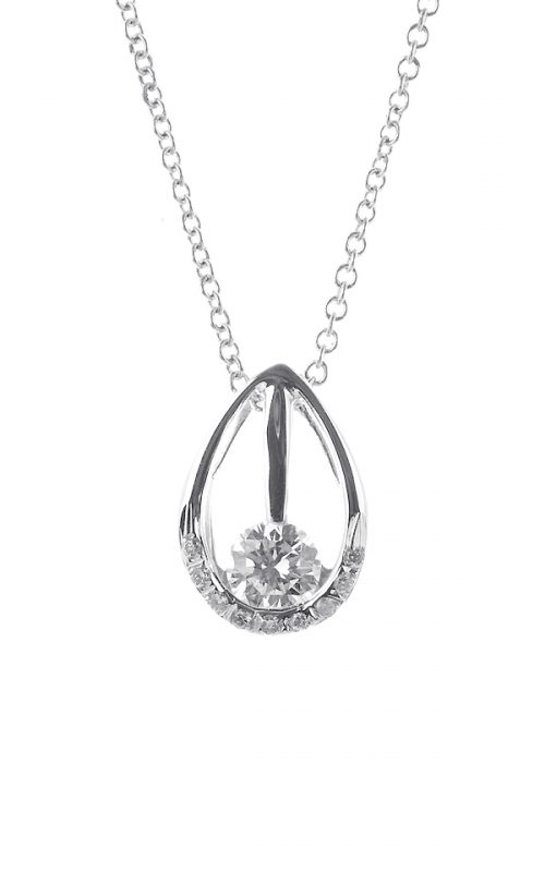 Gideon's Exclusive 18K White Gold Solitaire Diamond Pendant