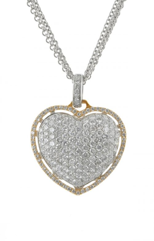 Gideon's Exclusive 18K White & Rose Gold Diamond Heart