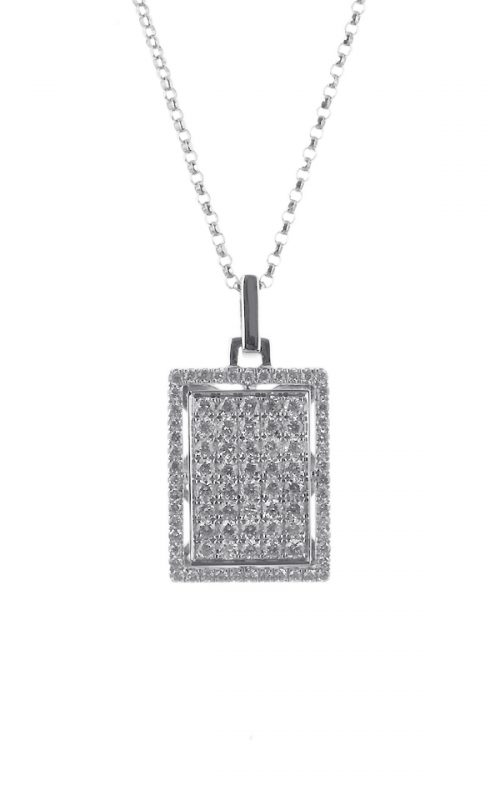 Gideon's Exclusive 18K White Gold Micro Pave Diamond Pendant