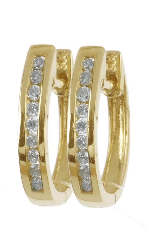Gideon's Exclusive 14K Yellow Gold Diamond Hoop Earring