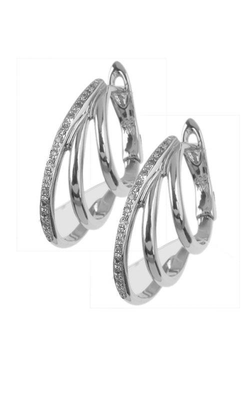 Gideon's Exclusive 14K White Gold Diamond Hoop Earring