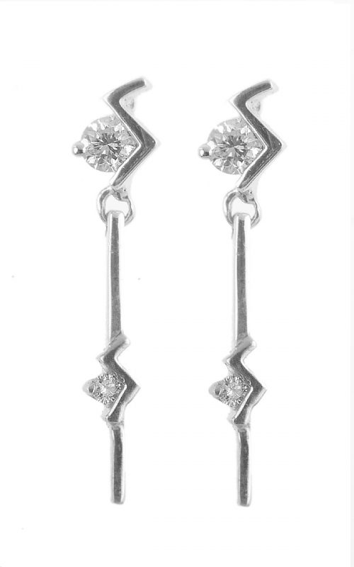 Gideon's Exclusive 18K White Gold Drop Earring 0.24 cts