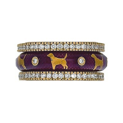 Hidalgo Stackable Rings Puppy Lovers Collection Set  (7-469 & 7-469G)