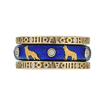 Hidalgo Stackable Rings Puppy Lovers Collection Set  (7-470 & 7-470G)