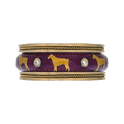 Hidalgo Stackable Rings Puppy Lovers Collection Set  (7-471 & 7-471G)