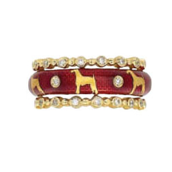 Hidalgo Stackable Rings Puppy Lovers Collection Set  (7-473 & 7-473G)