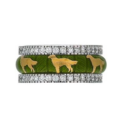 Hidalgo Stackable Rings Puppy Lovers Collection Set  (7-474 & 7-474G)