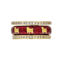 Hidalgo Stackable Rings Puppy Lovers Collection Set  (7-475 & 7-475G)