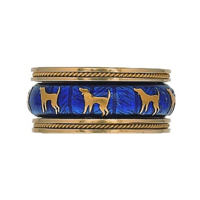 Hidalgo Stackable Rings Puppy Lovers Collection Set  (7-476 & 7-476G)