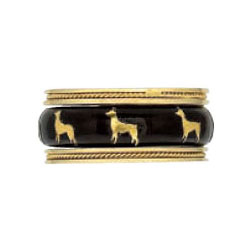 Hidalgo Stackable Rings Puppy Lovers Collection Set  (7-477 & 7-477G)