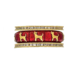 Hidalgo Stackable Rings Puppy Lovers Collection Set  (7-478 & 7-478G)