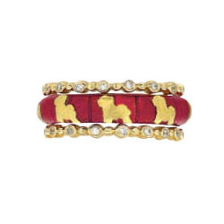 Hidalgo Stackable Rings Puppy Lovers Collection Set  (7-481 & 7-481G)