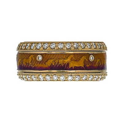 Hidalgo Stackable Rings Equestrian Collection Set  (7-492 & 7-492G)