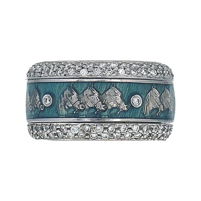 Hidalgo Stackable Rings Equestrian Collection Set  (7-494 & 7-494G)