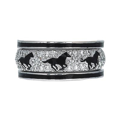 Hidalgo Stackable Rings Equestrian Collection Set  (7-495 & 7-495G)