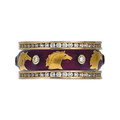 Hidalgo Stackable Rings Equestrian Collection Set  (7-496 & 7-496G)