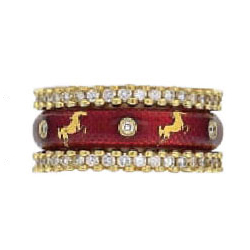 Hidalgo Stackable Rings Equestrian Collection Set  (7-498 & 7-498G)
