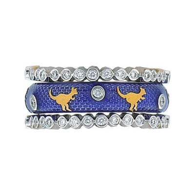 Hidalgo Stackable Rings Wild Life Collection Set  (7-505 & 7-505G)