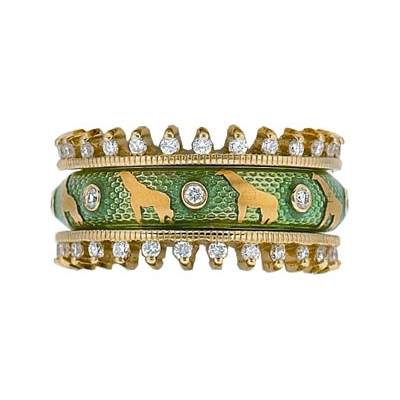 Hidalgo Stackable Rings Wild Life Collection Set  (7-506 & 7-506G)