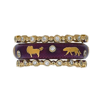 Hidalgo Stackable Rings Wild Life Collection Set  (7-508 & 7-508G)