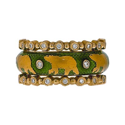 Hidalgo Stackable Rings Wild Life Collection Set  (7-509 & 7-509G)