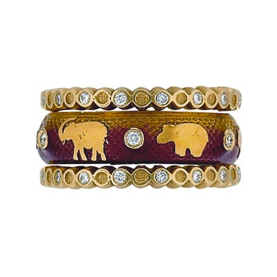 Hidalgo Stackable Rings Wild Life Collection Set  (7-514 & 7-514G)